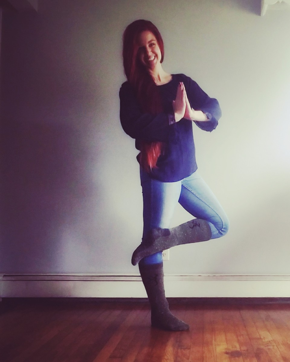 Tree pose is one of my favorites.