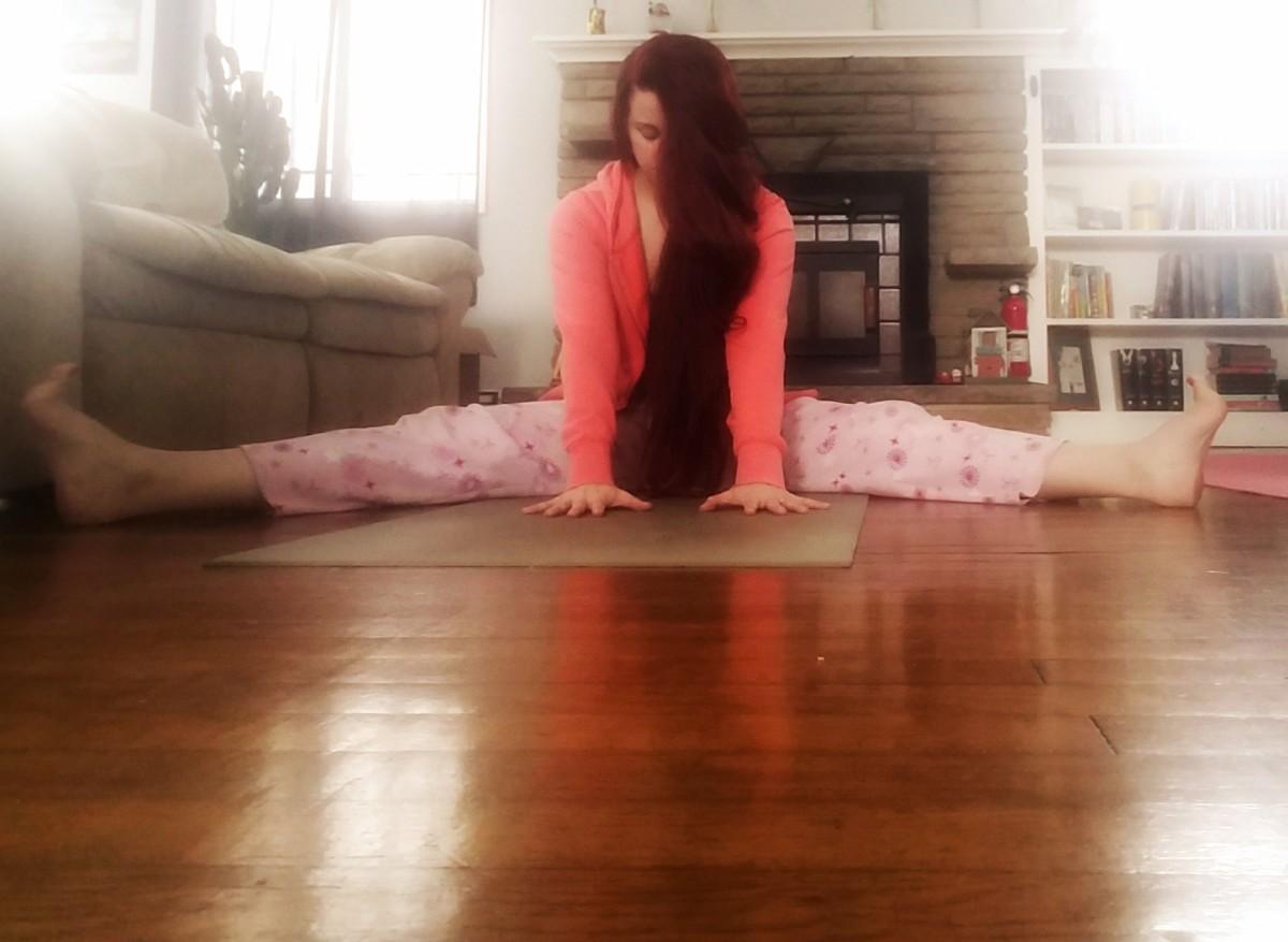Yoga at home. Pajamas encouraged.