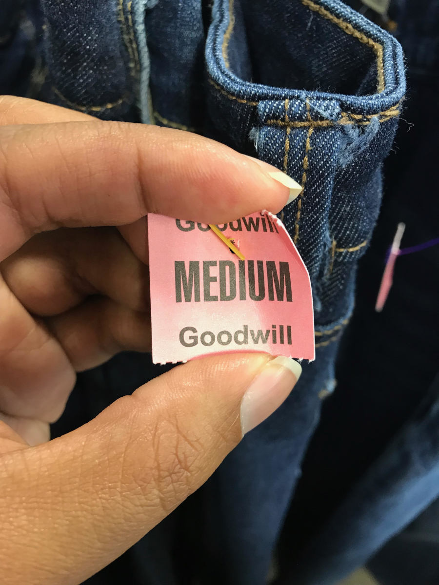 I recently went to Goodwill and was excited to fit into a pair of size 10 jeans!!!