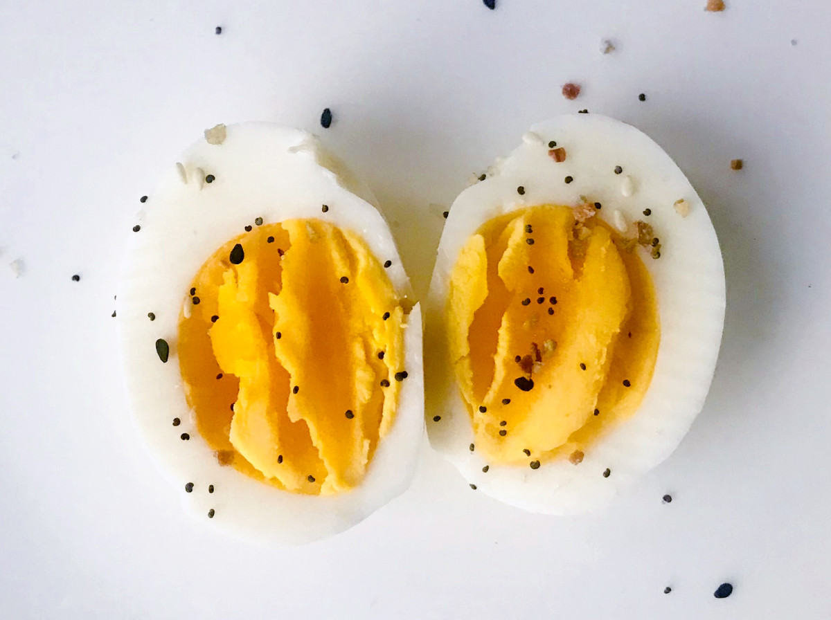 Hard-boiled eggs make a great, healthy snack.