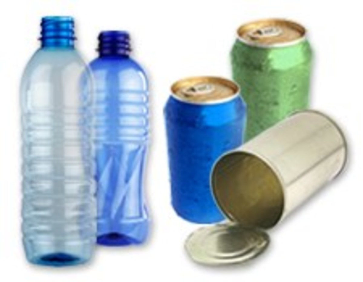 Some canned and bottled foods and beverages  contain BPA, an endocrine disruptor.