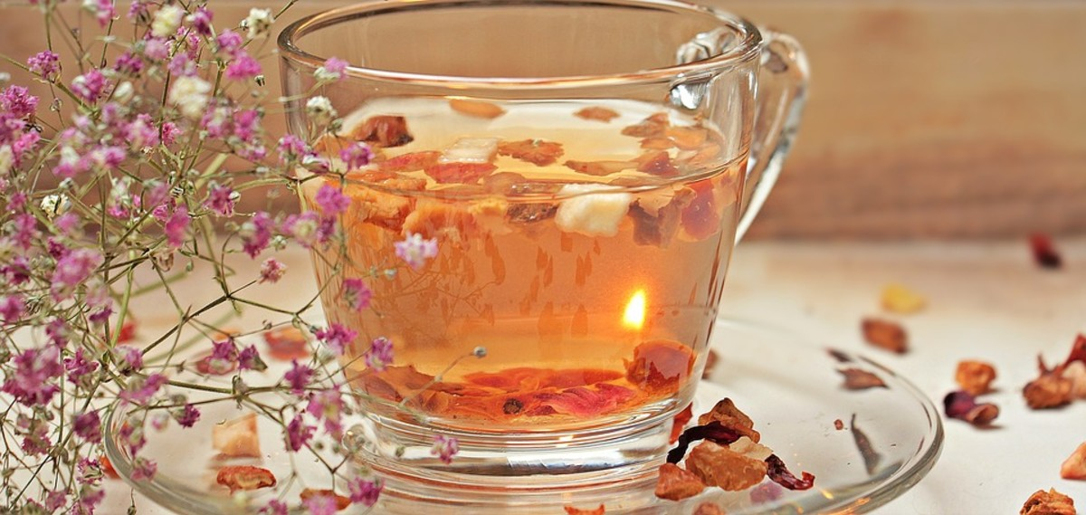 Rose tea is a healthy beverage choice.