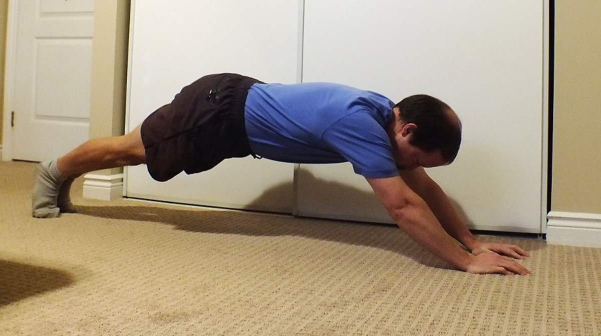 Extended plank walkout.