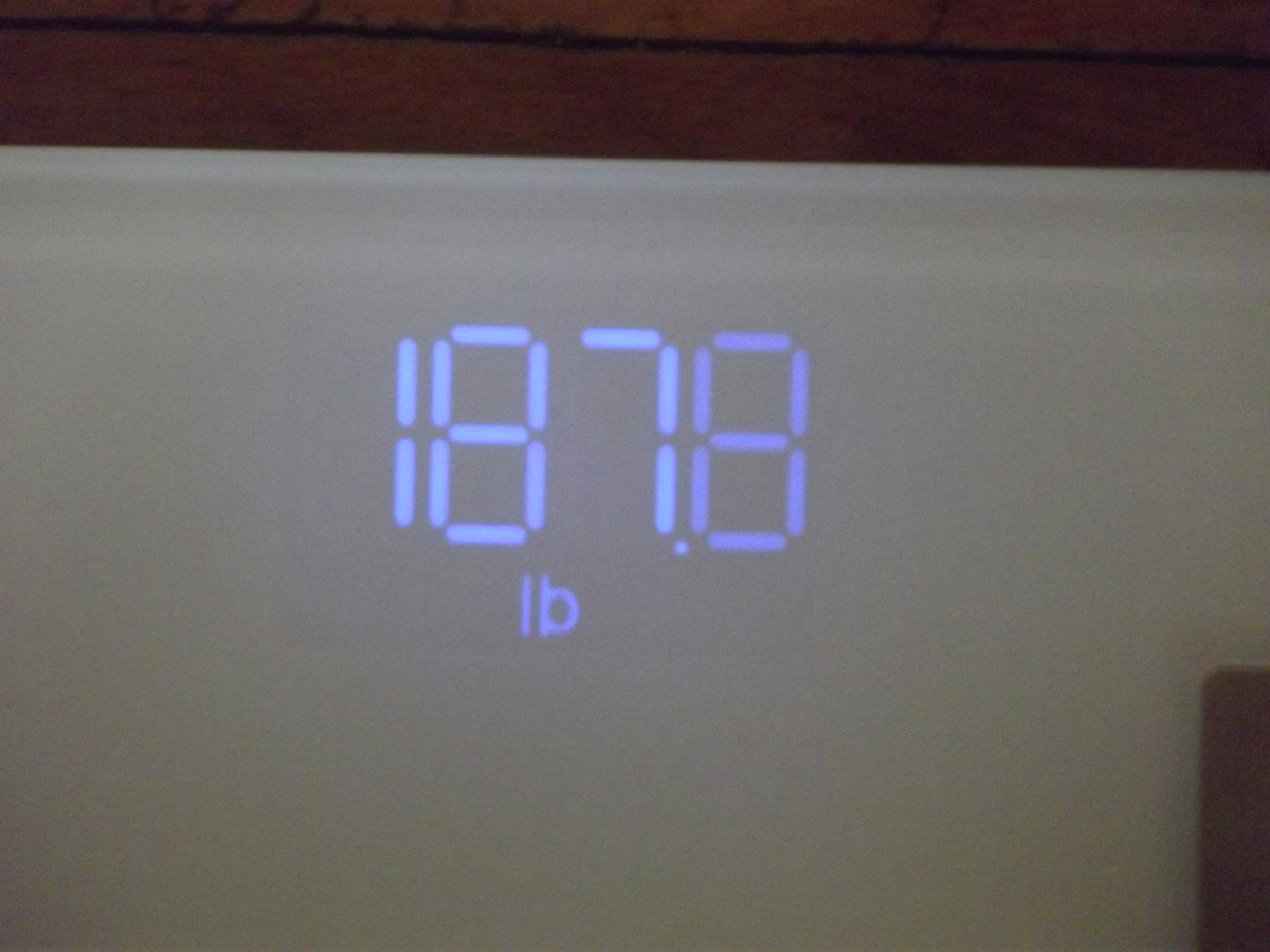 LED display of Arboleaf CS20N Smart Scale