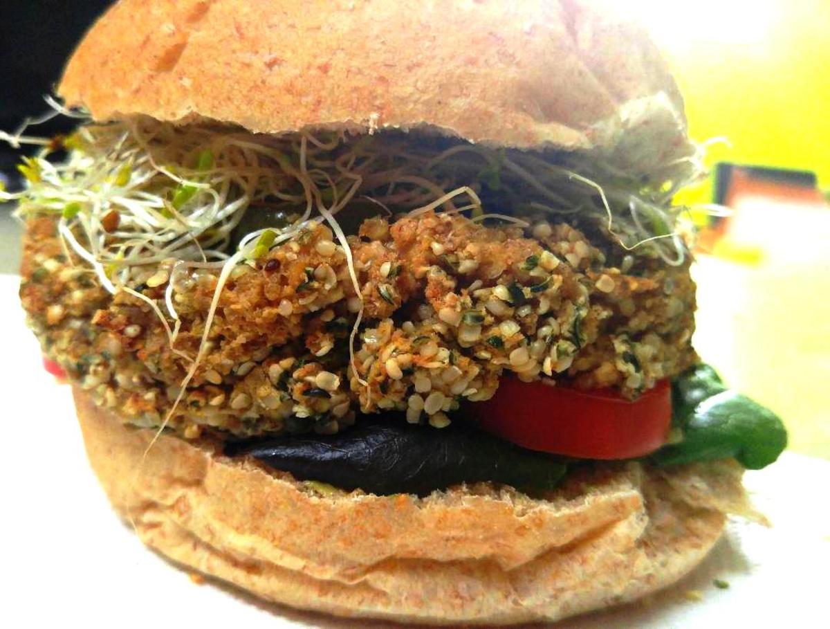 Bodacious Hemp Seed Burger