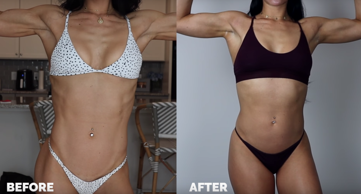 While most men are healthiest at around 11-22% body fat, women require 22-33% to maintain normal endocrine functionality. Stephanie experienced the problems that come along with getting much leaner than your natural set-point.