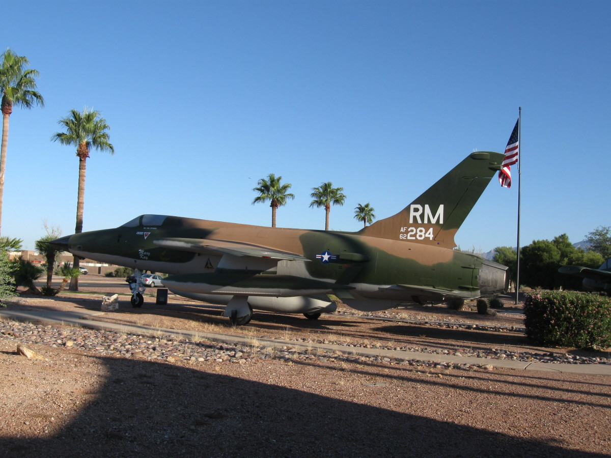USAF F-105 Fighter Jet at Davis-Monthan AFB in Tucson, AZ