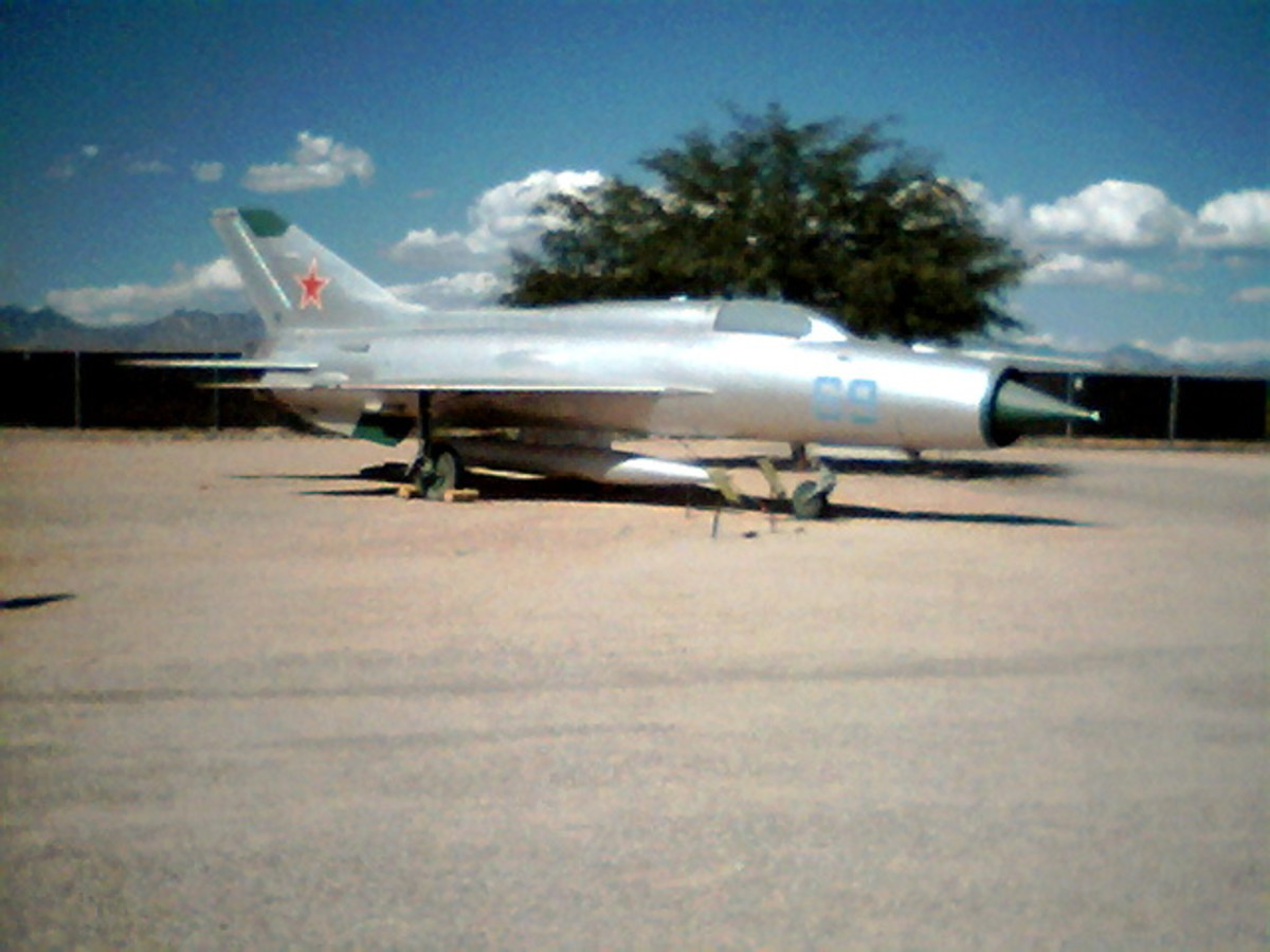 Soviet MiG-21PF at Pima Air Museum in Tucson, Arizona
