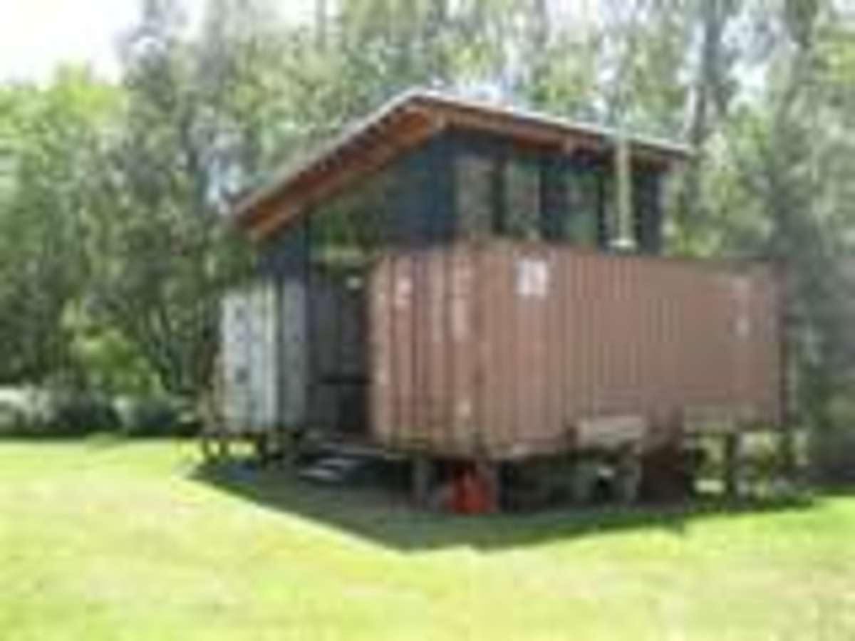 No Frills Shipping Container Summer Home?