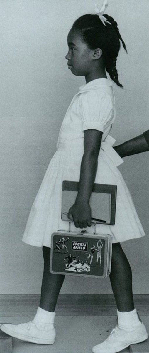 """Working photograph  """"The Problem We All Live With"""" 1963"""
