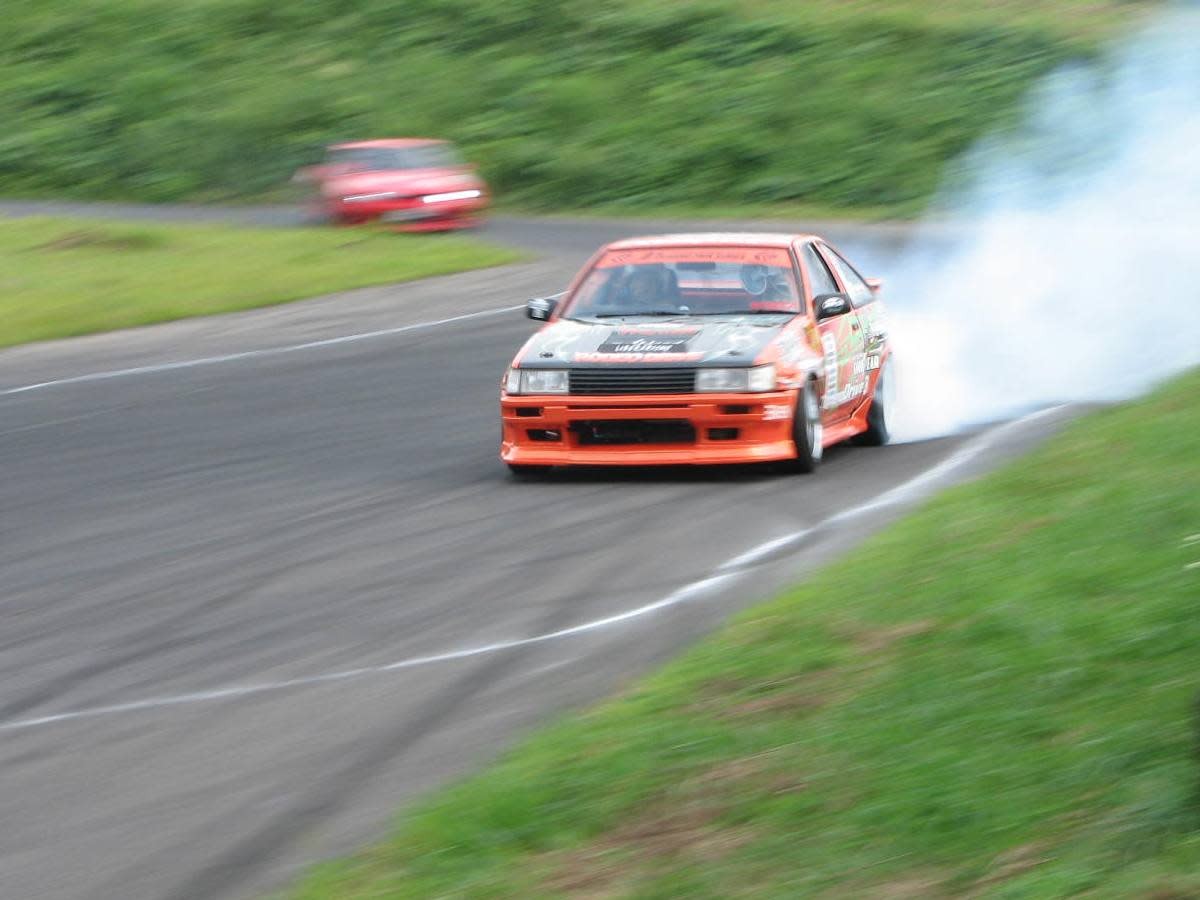 A Toyota AE86.  Drifting is an art form that was invented in Japan