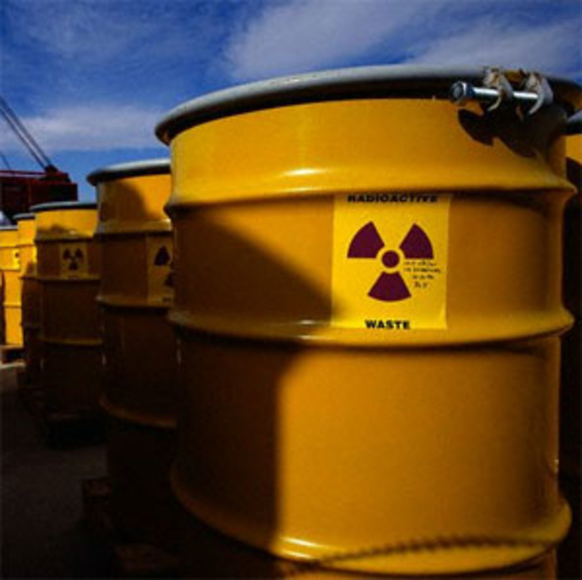 Storage of Radioactive Waste in steel containers