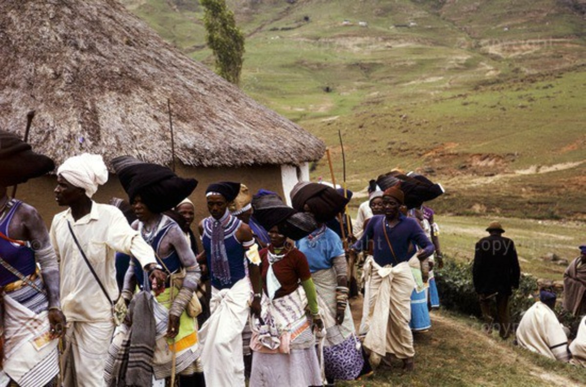The bride must never go near the cattle kraal in which her husbands father or grandfather are buried or where the ancestors of the family are believed to reign. However, if she opens her own homestead with her husband, she may go near the kraal of th