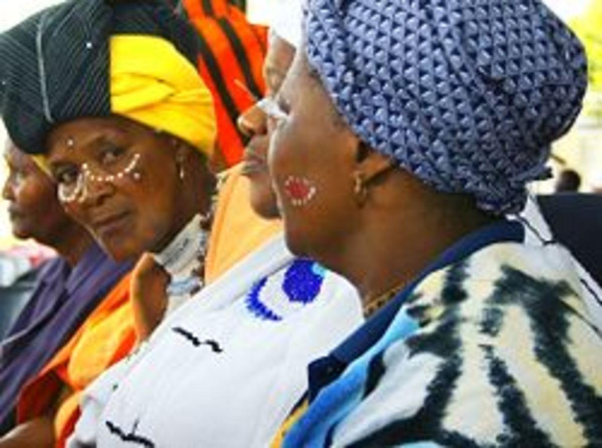 Xhosa women in traditional dress