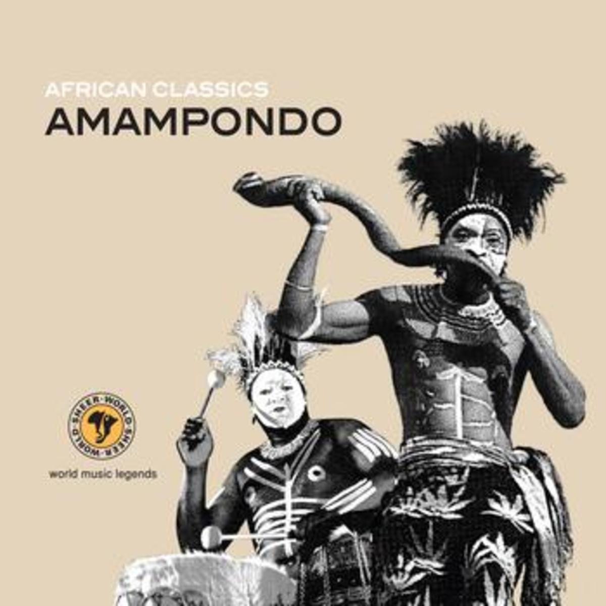 Pondo Musician Blowing a Kudu Horn