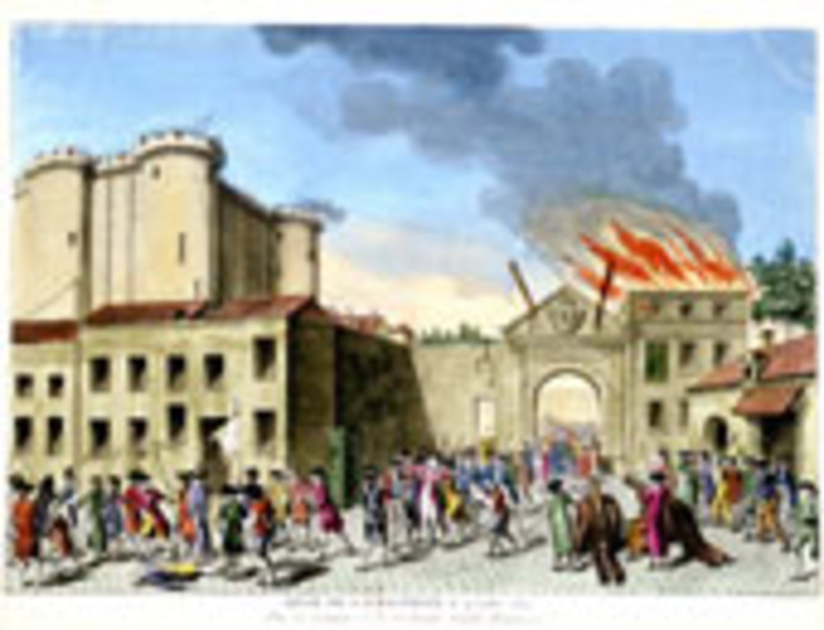 The storming of the Bastille was the flash point of the French Revolution on July 14th, 1789. Though small in actual prisoners freed and munitions seized, the victory here inspired the people over the next few years.