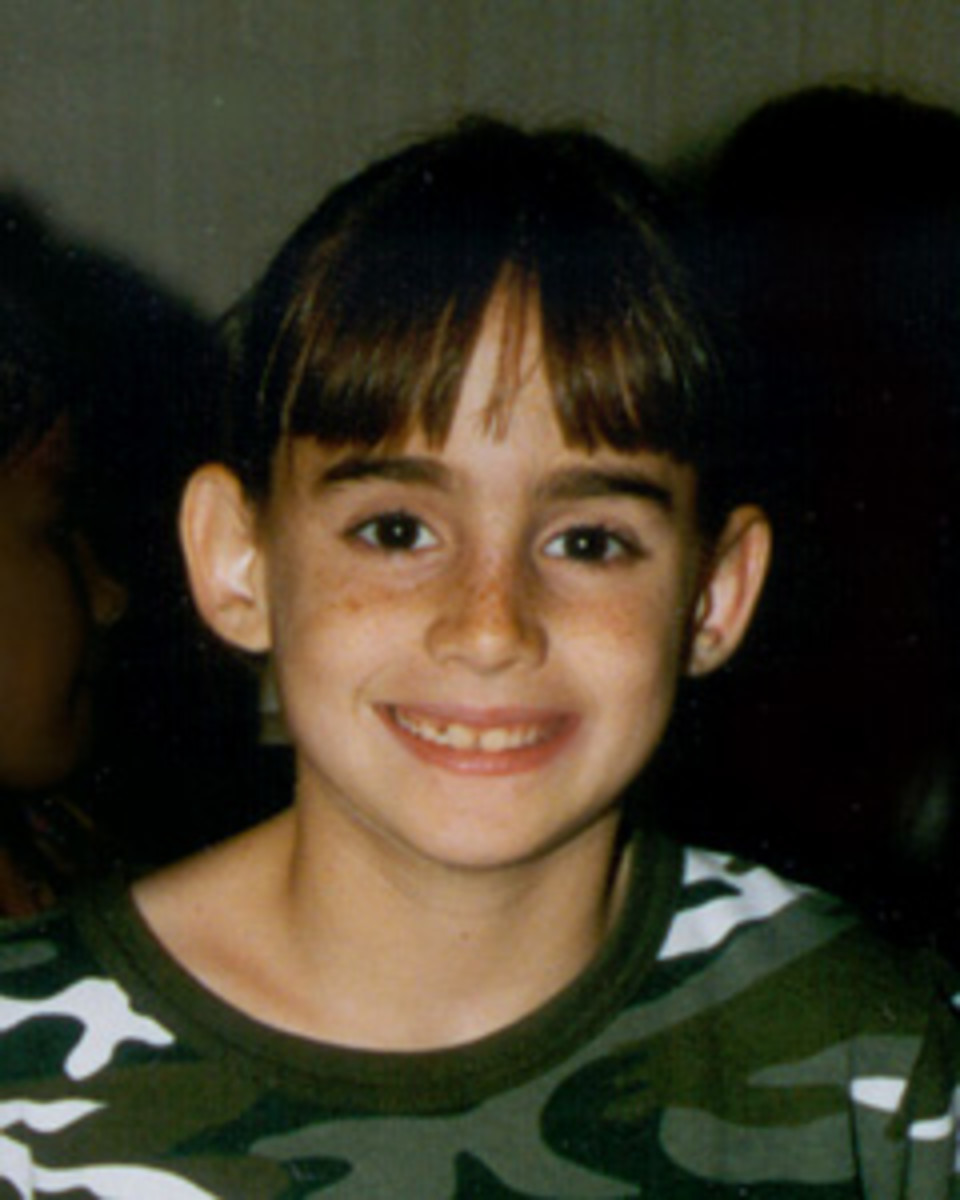 His victim, 8-year-old Maddie Clifton.