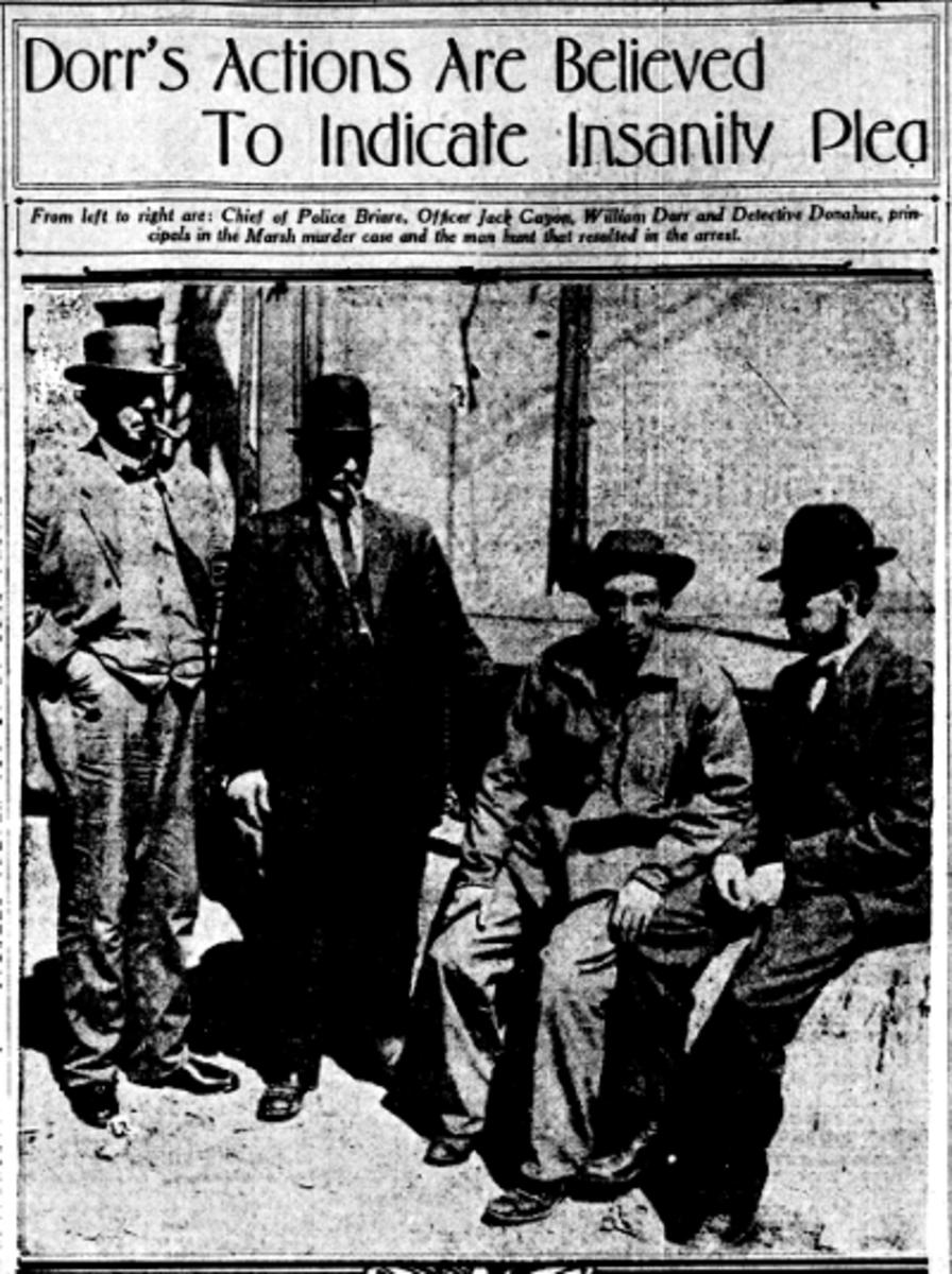 Dorr (second r) with his captors.