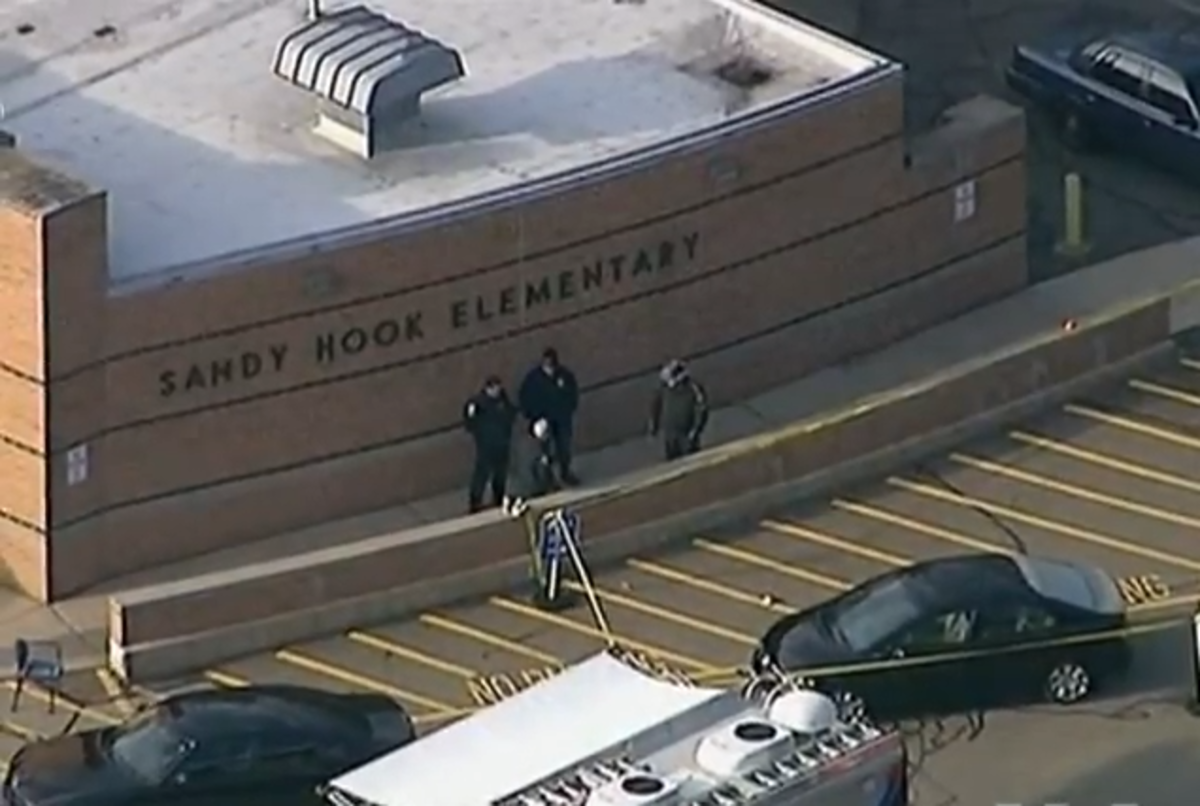 Police arriving at the Sandy Hook Elementary School after 20 children and 6 adult staff members were shot by 20-year-old Adam Lanza.  Proponents of gun control believe that there needs to be more regulation of gun sales and ownership.