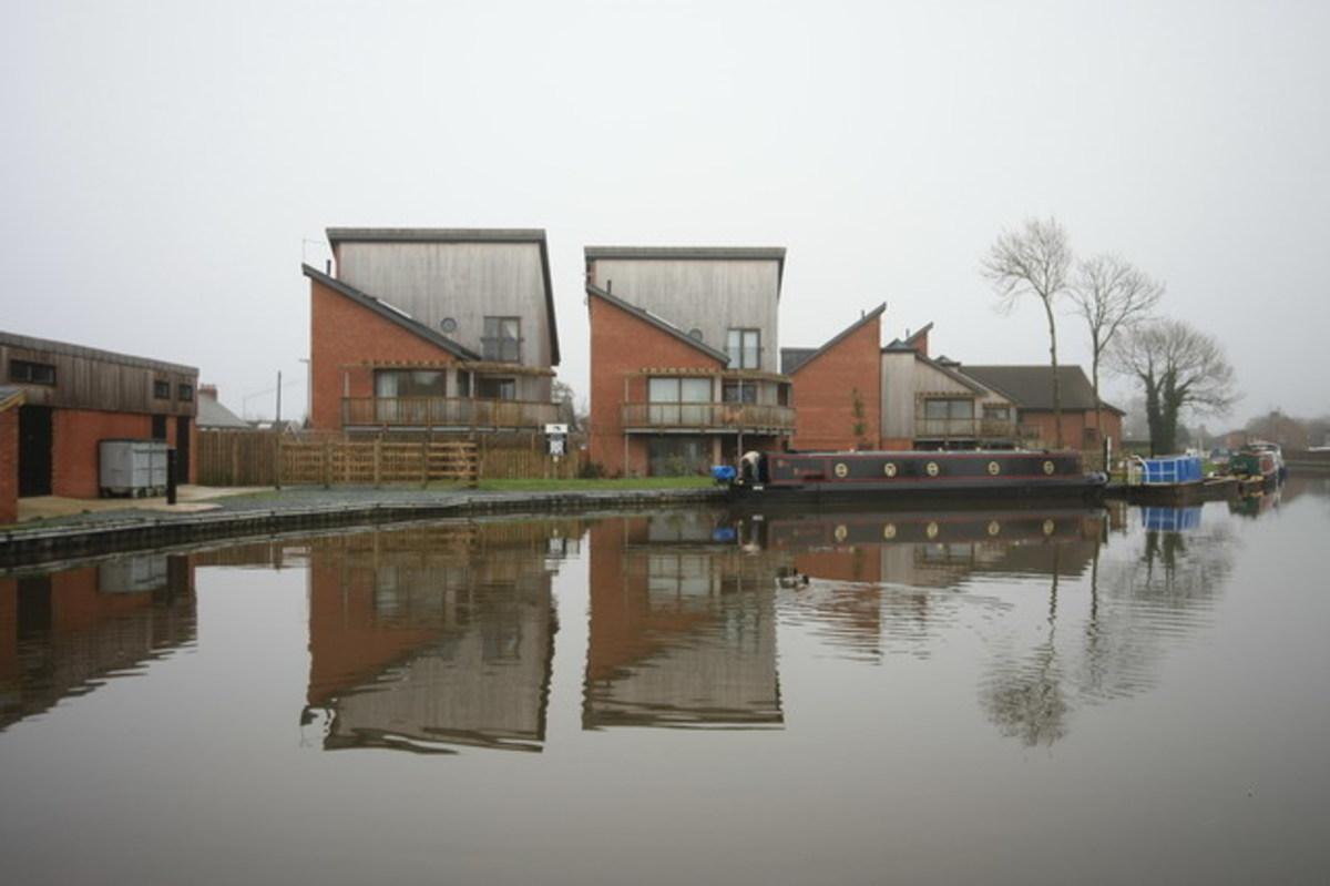 Energy saving eco-houses.