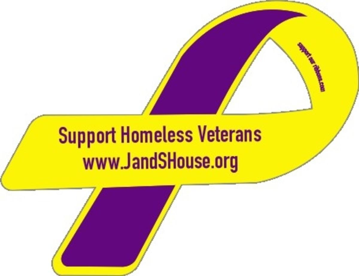 Homeless Veterans Awareness Ribbon by Tsr216