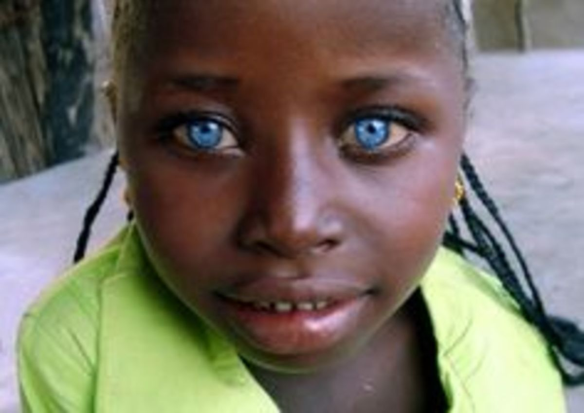 africanamericans with green grey hazel or blue eyes