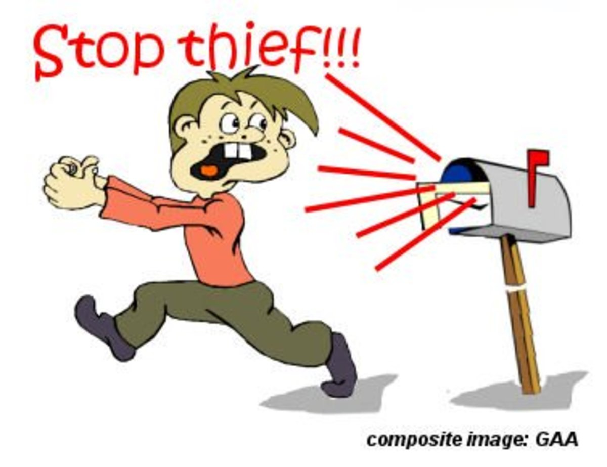 Mailbox thief *See composite component image citation