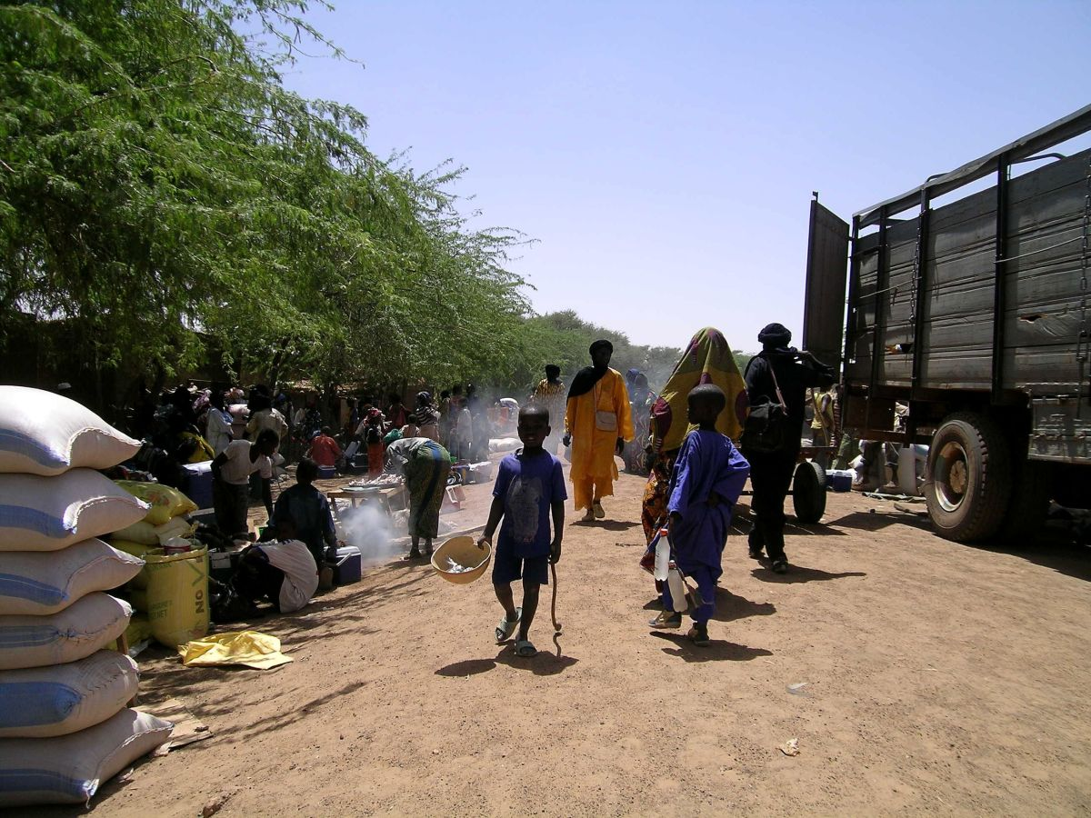 Rue Principal in Burkina Faso. Many children in used for slave labor in the cocoa industry come from this country.