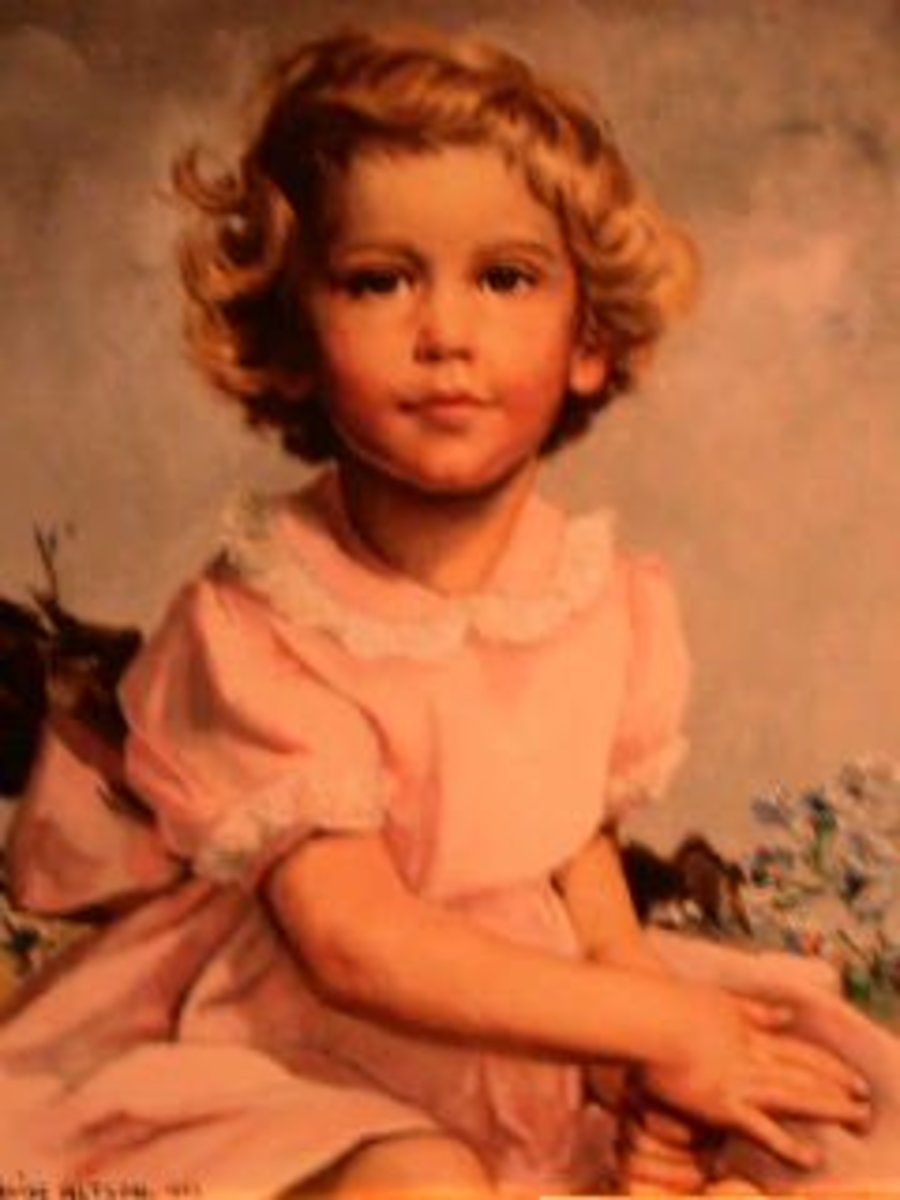 Beautiful Painting of Robin, deceased daughter of George and Barbara Bush