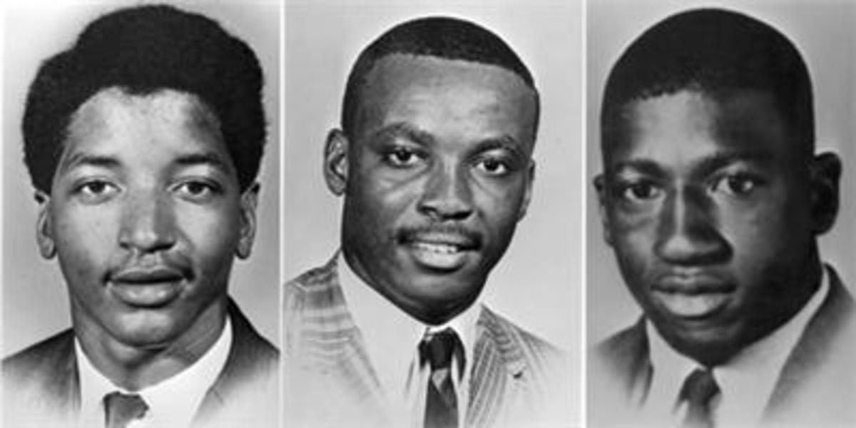 The three victims of the Orangeburg Massacre 1968.