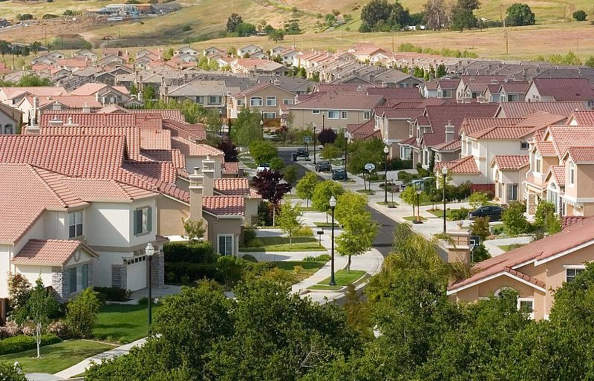 Suburbs like this one in San Jose, California sprung up all over the country after World War II. In a world without oil, life in these places will become a lot less tranquil.