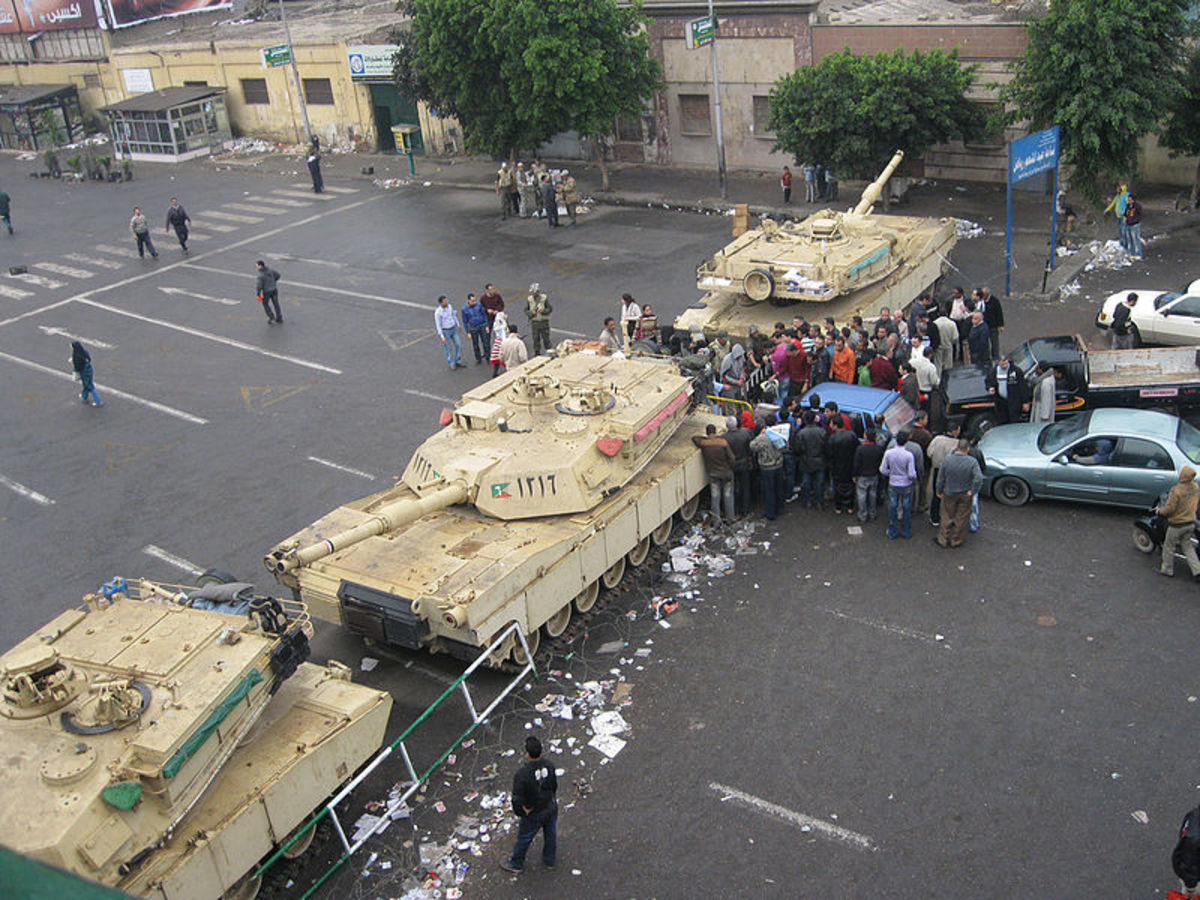 Martial law was declared in Egypt last year in the wake of the unrest that erupted. In a world without oil, scenes like this would be commonplace across the world.
