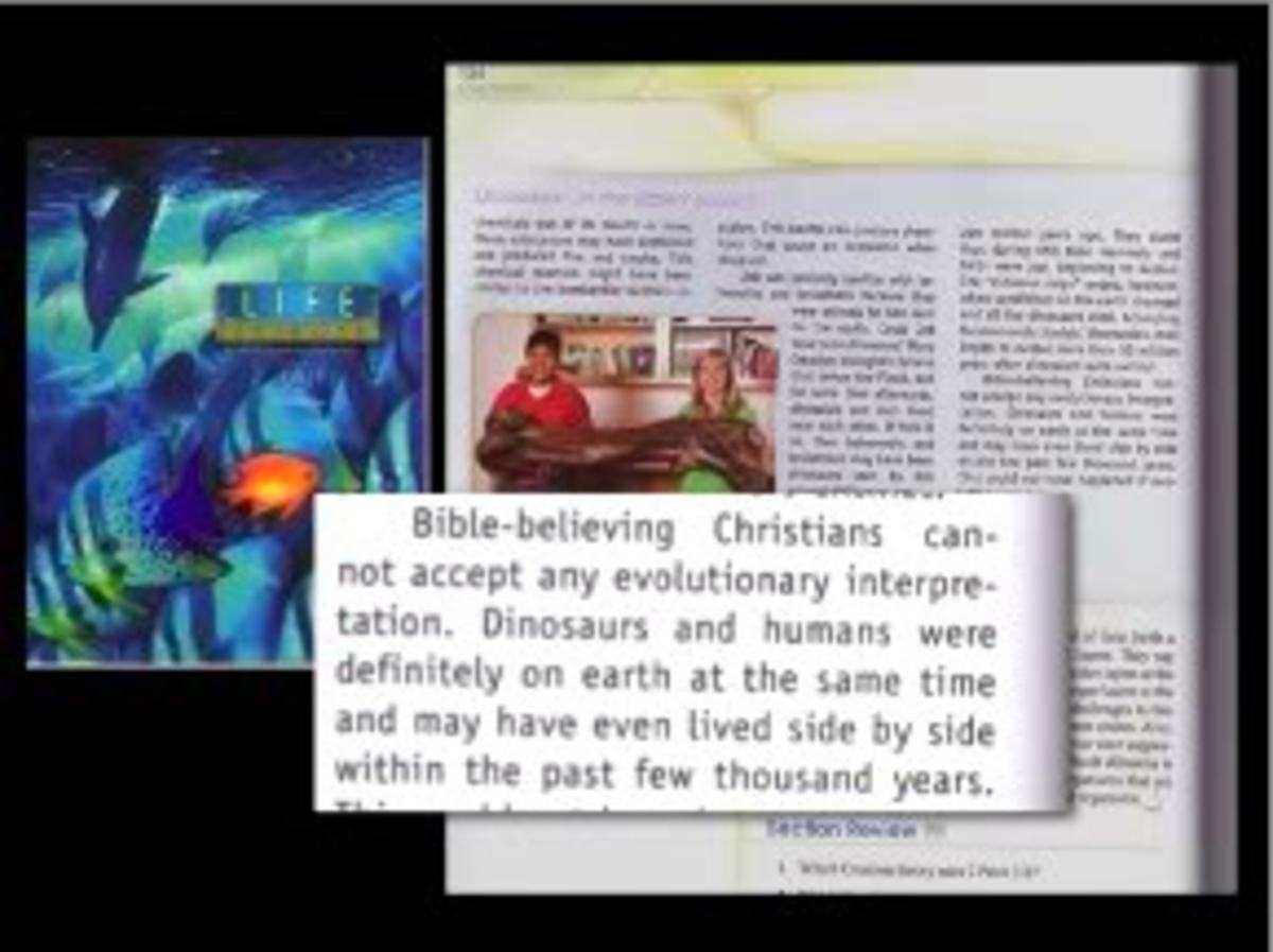 An example from a Bob Jones University Press textbook for children in Christian Schools
