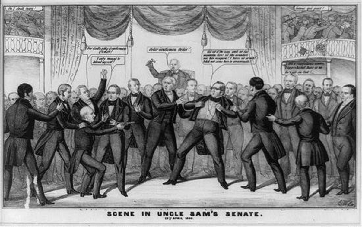 violence-in-the-us-congress-fistfights-on-the-senate-floor