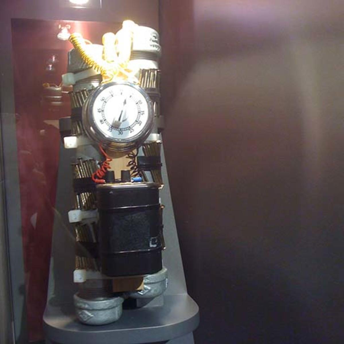 Pipe bomb in terrorism museum