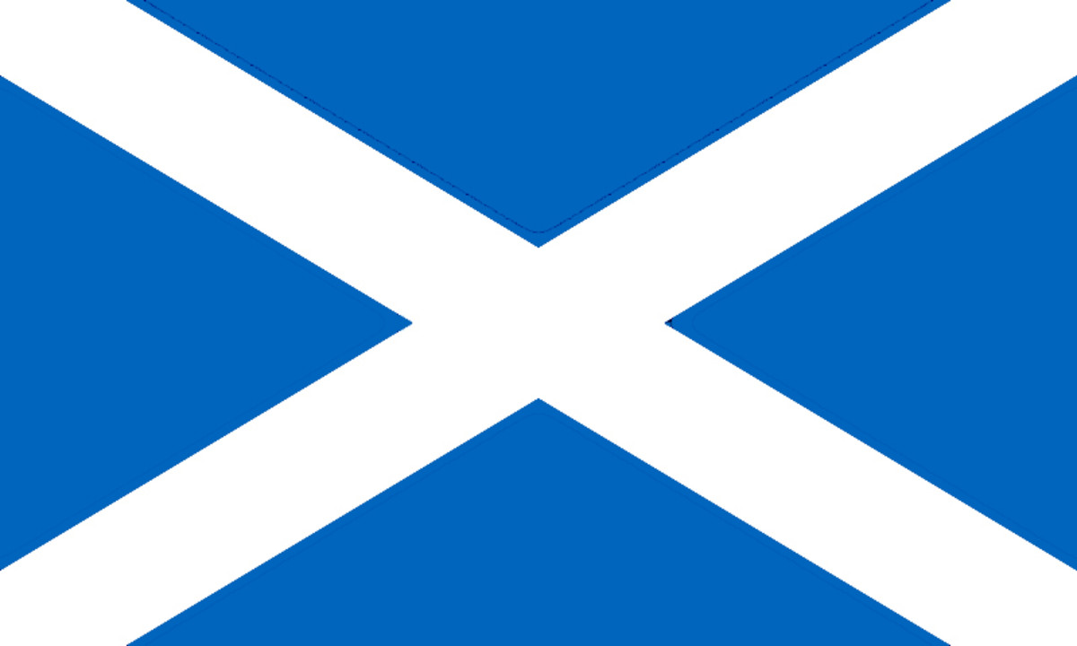 The Flag of Scotland - St Andrew's Saltire