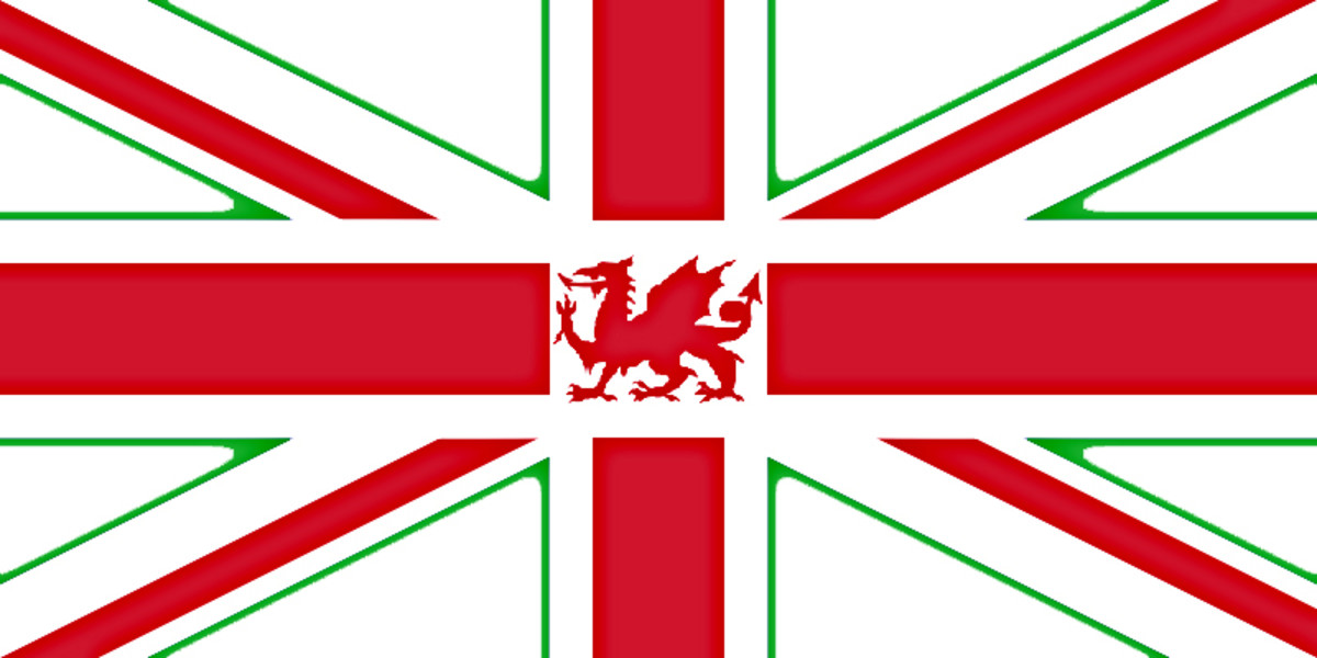 This is another of my ideas which presumes Scottish withdrawal from the Union. The prominence of England's red cross on a white background is maintained, but a Red Dragon and a green outline give more recognition to Wales and N. Ireland