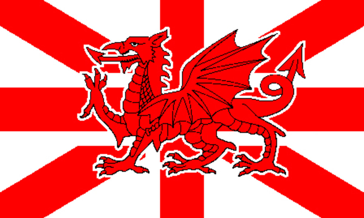 The Red Dragon and the St Patrick's Saltire are given greater prominence in this design. But could the English, the dominant partner in the Union, accept such a diminution in the significance of St George's Cross?