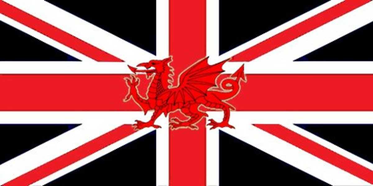 A possible Union Jack without Scotland. This idea of my own combines other designs with the Red Dragon in the centre and the black of St David's Cross replacing the blue of Scotland. I like it, but then I'm half-Welsh so perhaps I'm biased!