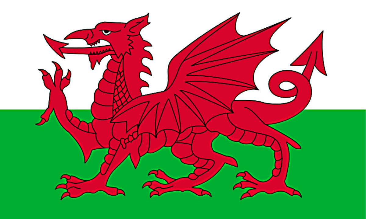 The Flag of Wales - The Red Dragon