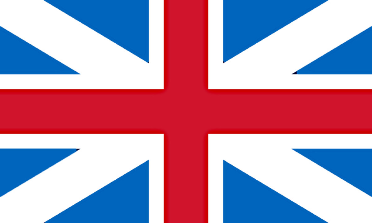 The Flag of Great Britain - 1606 to 1801