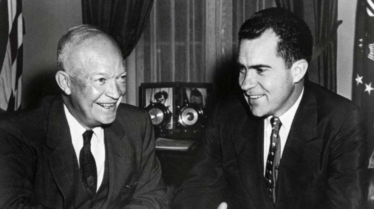 President Dwight D. Eisenhower and Vice President Richard Milhous Nixon