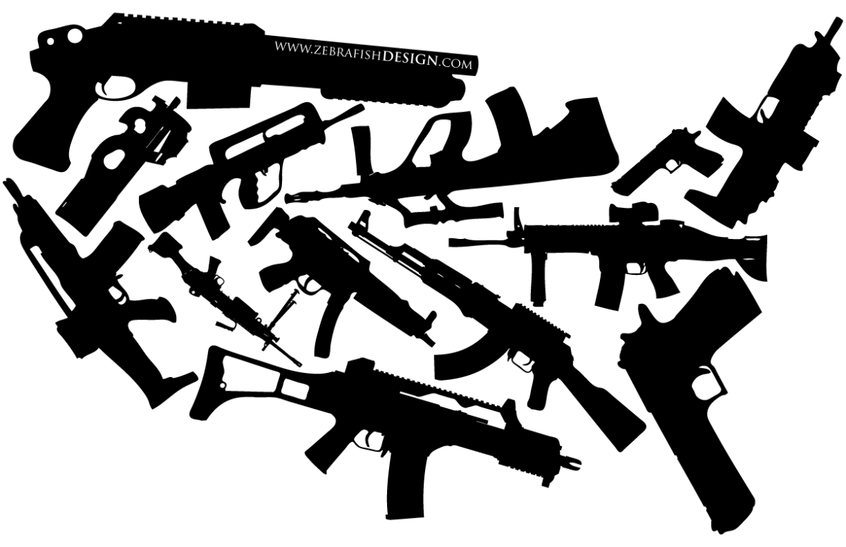 Guns are more prevalent in the US than most other countries.