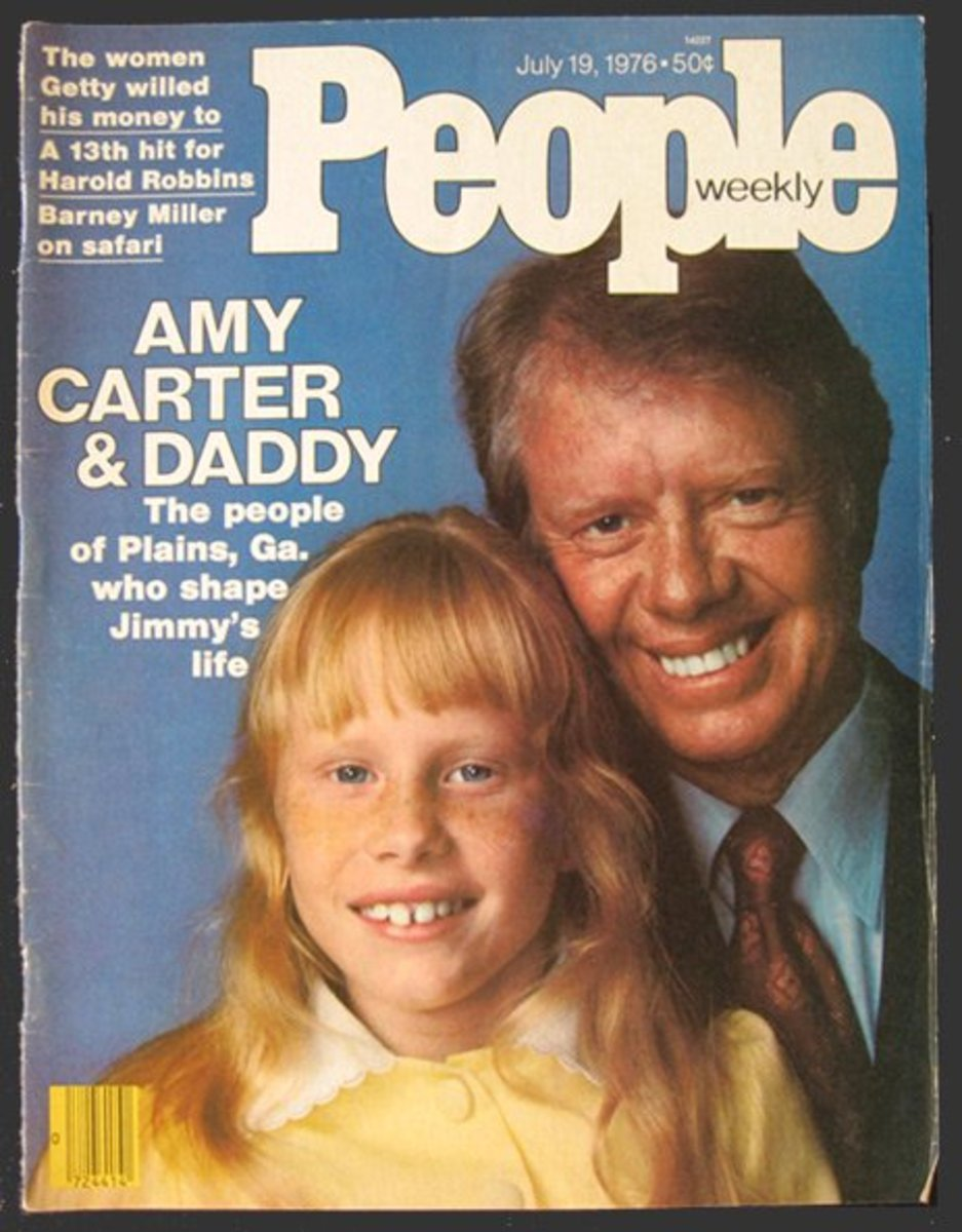 President Jimmy Carter and daughter Amy on cover of People magazine.