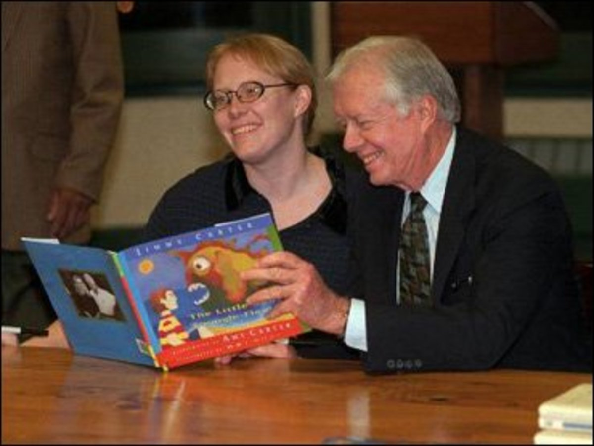 President Carter and daughter Amy