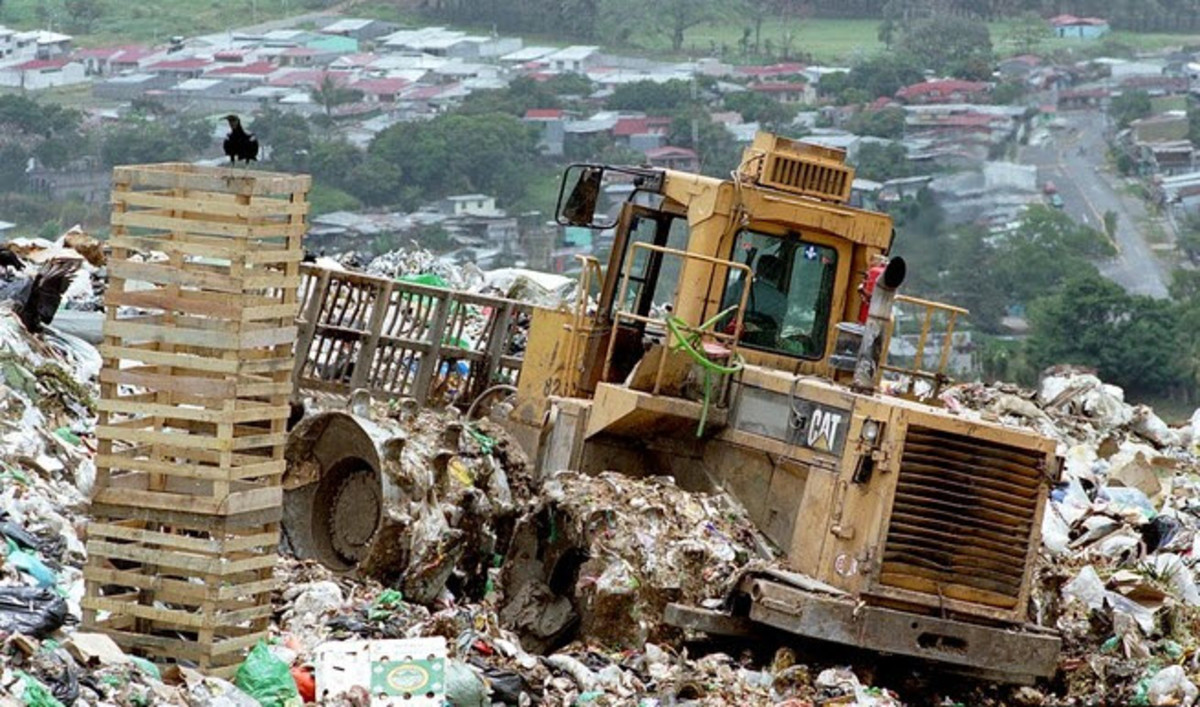 Overconsumption leads to too much garbage.