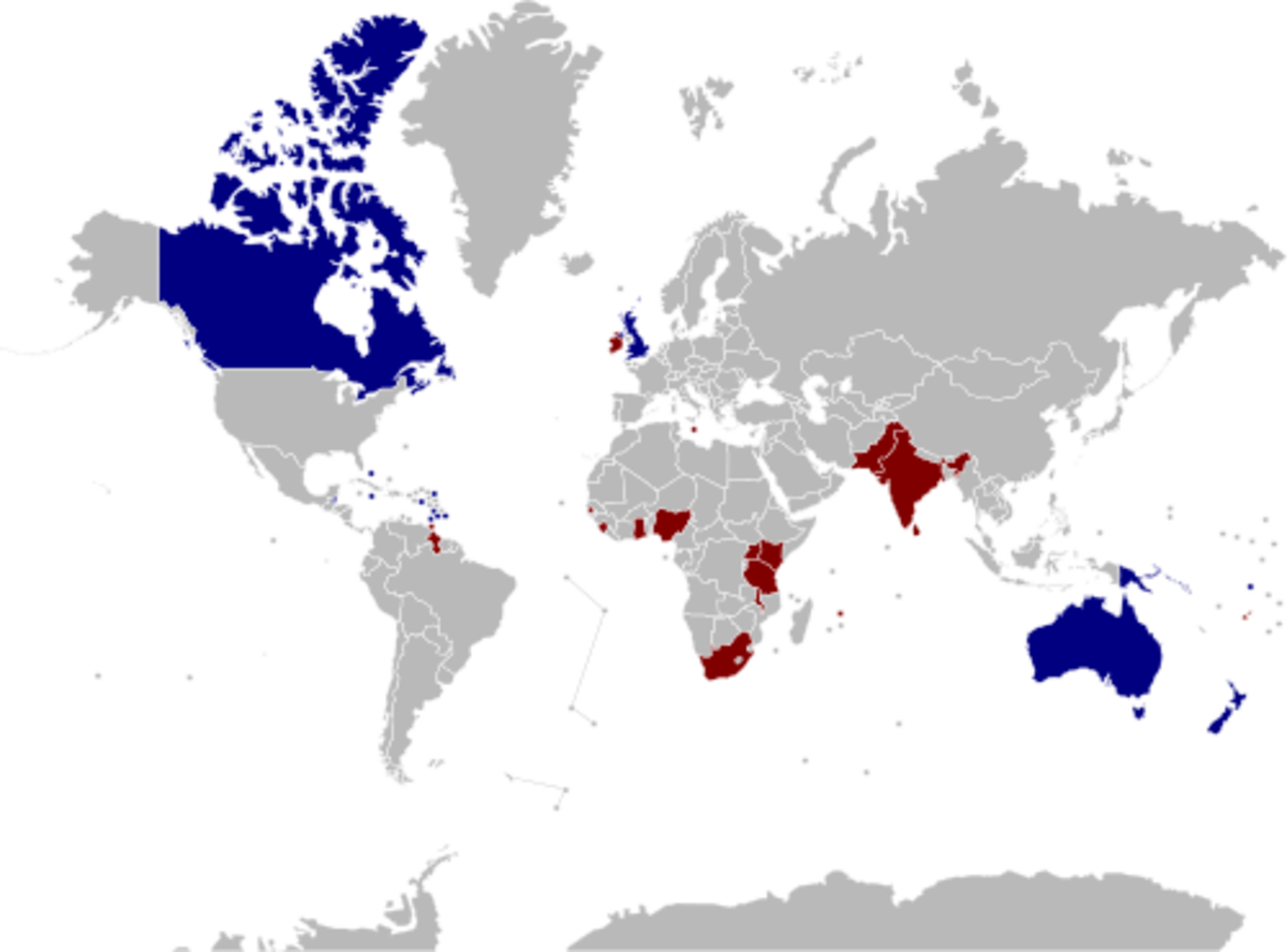 Past & Present Commonwealth Realms