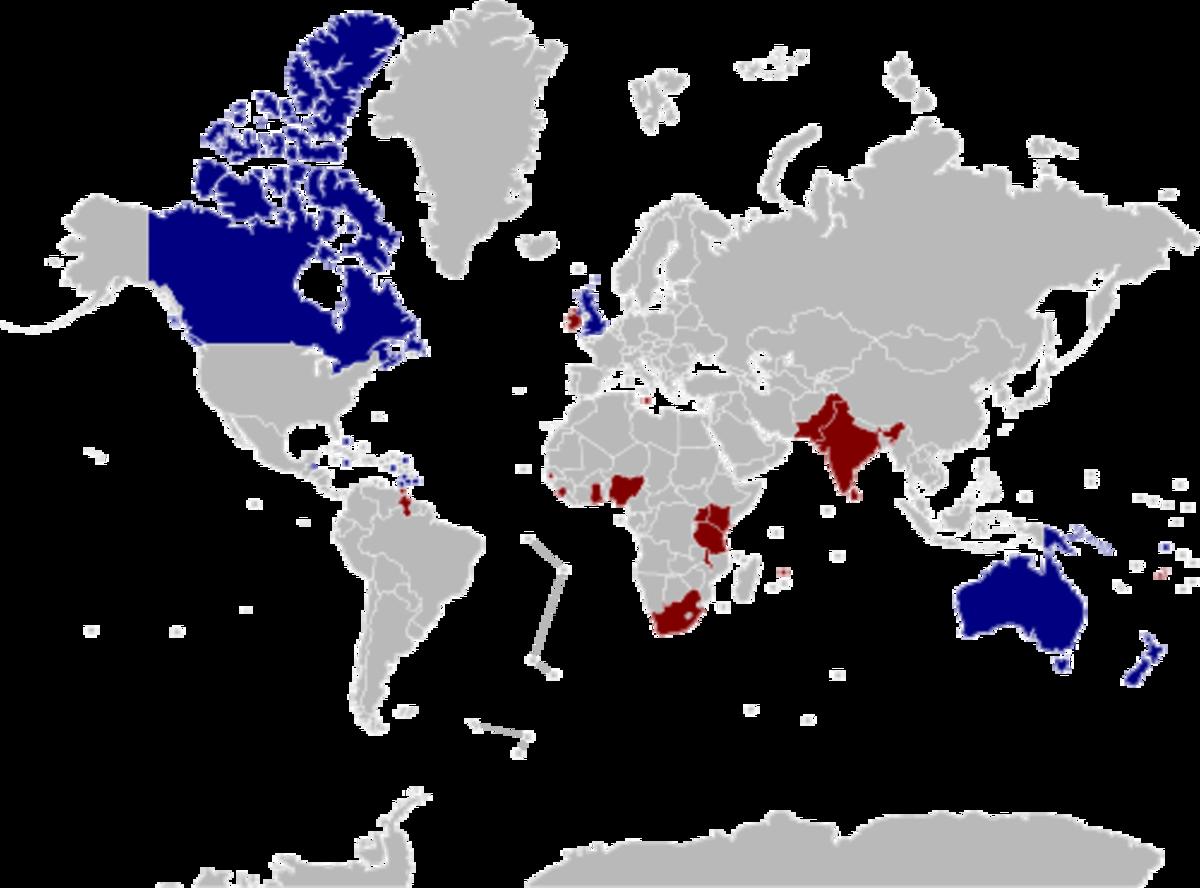 Past & Present Commonwealth Realms
