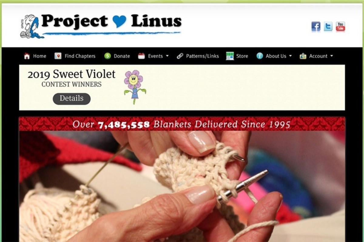 Screenshot of the Project Linus website