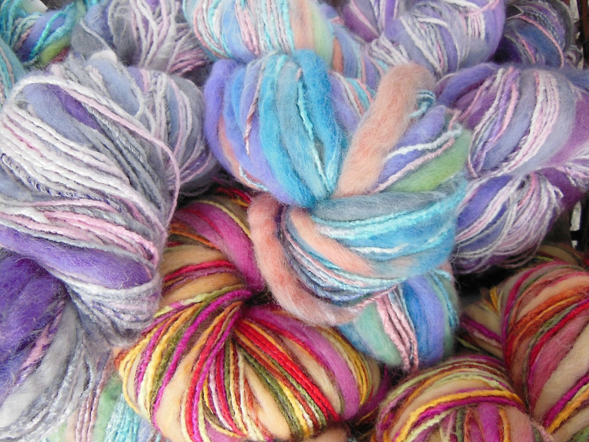 Many different yarn types, textures and colors are available today.